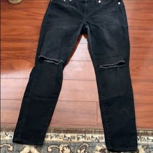 True religion black mid rise legging jeans